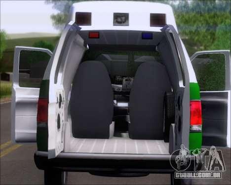 Ford E-150 Labocar para GTA San Andreas vista traseira