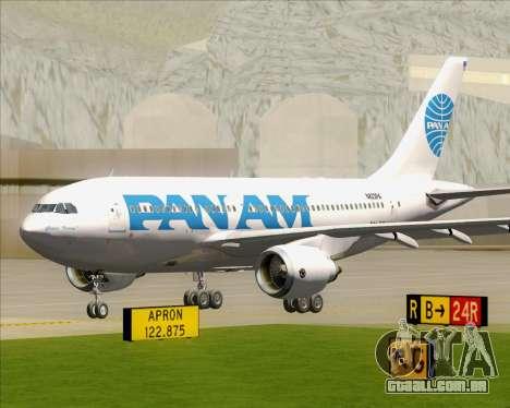 Airbus A310-324 Pan American World Airways para GTA San Andreas esquerda vista