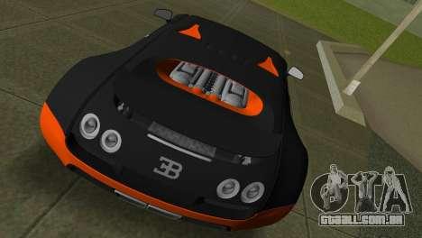 Bugatti Veyron Super Sport para GTA Vice City vista direita