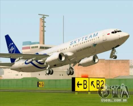 Boeing 737-86N Garuda Indonesia para GTA San Andreas vista traseira