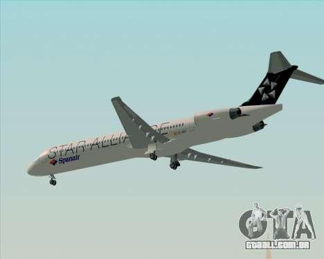 McDonnell Douglas MD-82 Spanair para GTA San Andreas vista superior