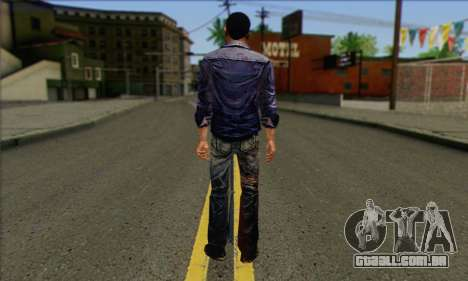 Lee from Walking Dead para GTA San Andreas segunda tela