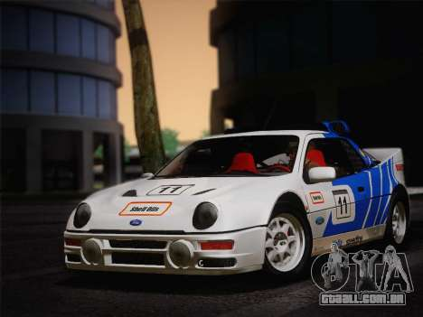 Ford RS200 Evolution 1985 para GTA San Andreas esquerda vista