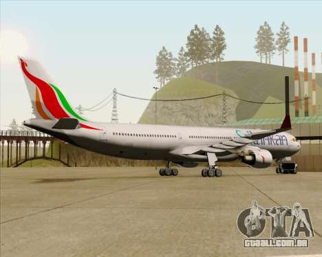 Airbus A330-300 SriLankan Airlines para GTA San Andreas vista traseira