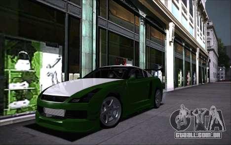 Elegy RH8 Tunable v1 para GTA San Andreas vista traseira