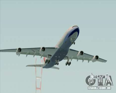 Airbus A340-313 China Airlines para vista lateral GTA San Andreas