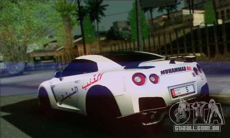 Nissan GT-R Muhammad Ali para GTA San Andreas esquerda vista