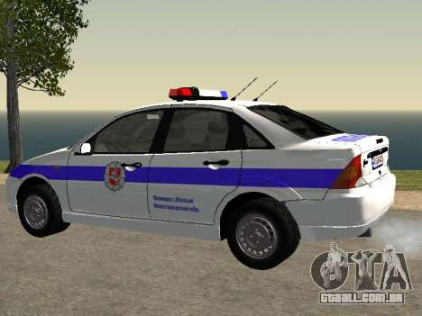Ford Focus Polícia Nizhny Novgorod região para GTA San Andreas esquerda vista