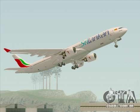Airbus A330-300 SriLankan Airlines para GTA San Andreas vista inferior