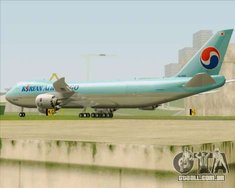 Boeing 747-8 Cargo Korean Air Cargo para GTA San Andreas vista direita