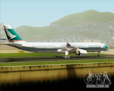 Airbus A330-300 Cathay Pacific para GTA San Andreas vista interior