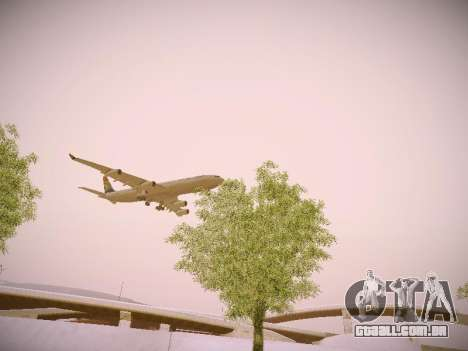 Airbus A340-300 South African Airways para vista lateral GTA San Andreas