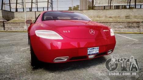 Mercedes-Benz SLS AMG [EPM] para GTA 4 traseira esquerda vista