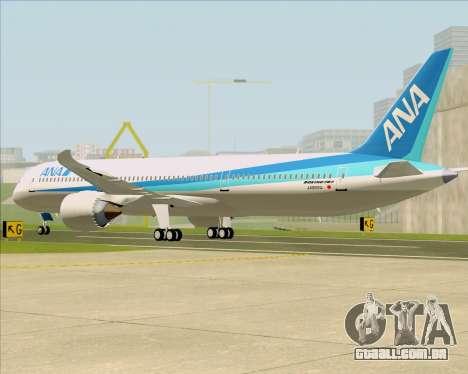 Boeing 787-9 All Nippon Airways para GTA San Andreas vista direita