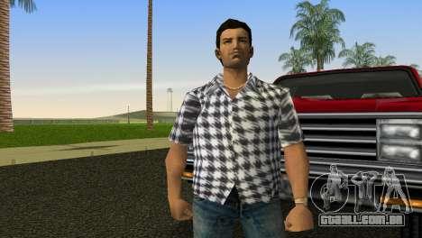 Kockas polo - feher T-Shirt para GTA Vice City segunda tela