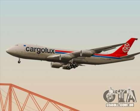 Boeing 747-8 Cargo Cargolux para GTA San Andreas vista traseira