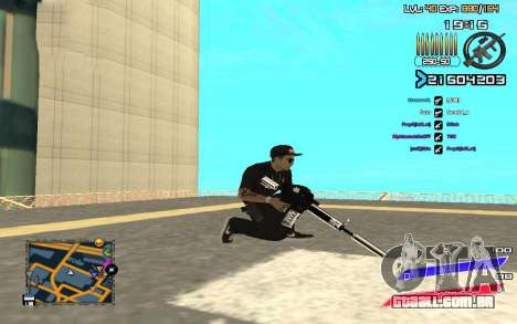 C-HUD by Radion edited SampHack para GTA San Andreas terceira tela