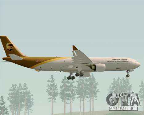 Airbus A330-300P2F UPS Airlines para as rodas de GTA San Andreas