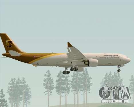 Airbus A330-300P2F UPS Airlines para as rodas de GTA San Andreas