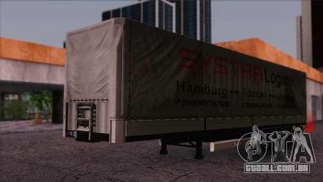 Krone SPD27 Systra Logistik para GTA San Andreas vista direita