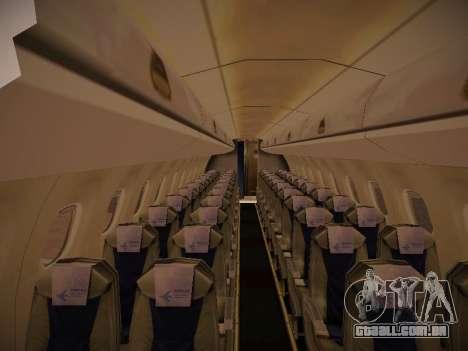 Embraer E190 Azul Tudo Azul para GTA San Andreas vista traseira