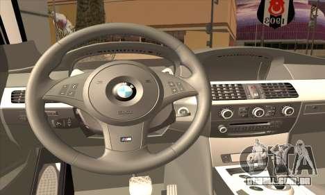 BMW 320i para GTA San Andreas traseira esquerda vista