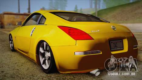 Nissan 350Z Turkey Tuned Drift para GTA San Andreas esquerda vista