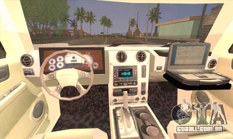 Hummer H2 Colombian Police para GTA San Andreas traseira esquerda vista