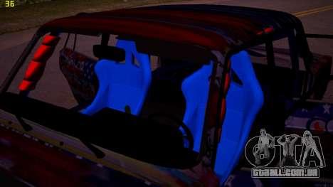 VAZ 2105 Deriva para GTA San Andreas vista interior