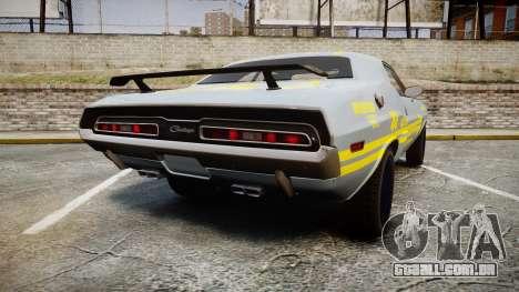 Dodge Challenger 1971 v2.2 PJ4 para GTA 4 traseira esquerda vista