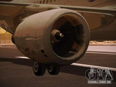 Airbus A320-214 LAN Oneworld para as rodas de GTA San Andreas