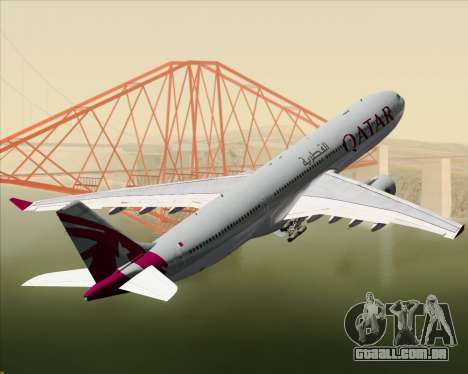 Airbus A330-300 Qatar Airways para as rodas de GTA San Andreas