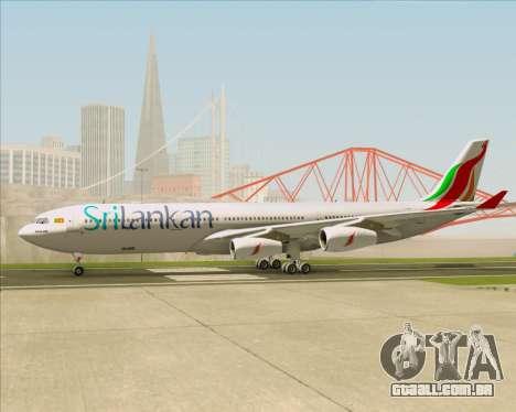 Airbus A340-313 SriLankan Airlines para GTA San Andreas vista interior