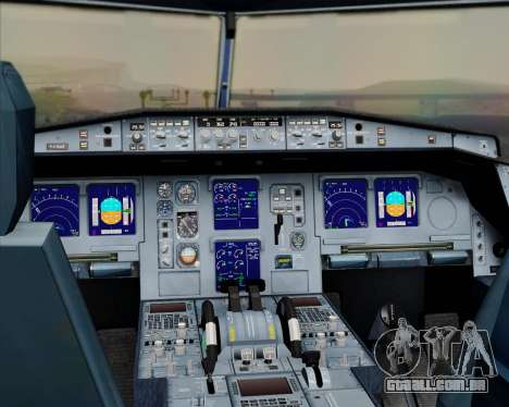 Airbus A330-300 Qatar Airways para GTA San Andreas interior