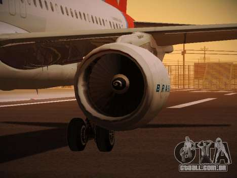 Airbus A320-214 TAM Oneworld para as rodas de GTA San Andreas