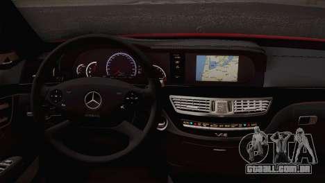 Mercedes-Benz S70 W221 para GTA San Andreas traseira esquerda vista