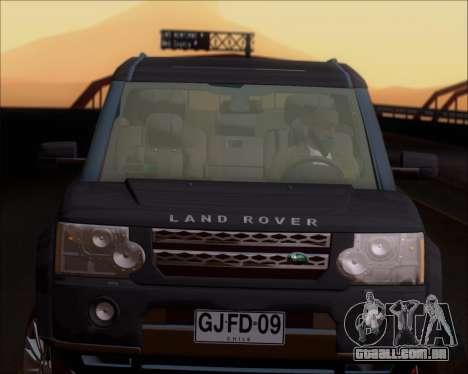 Land Rover Discovery 4 para GTA San Andreas vista superior