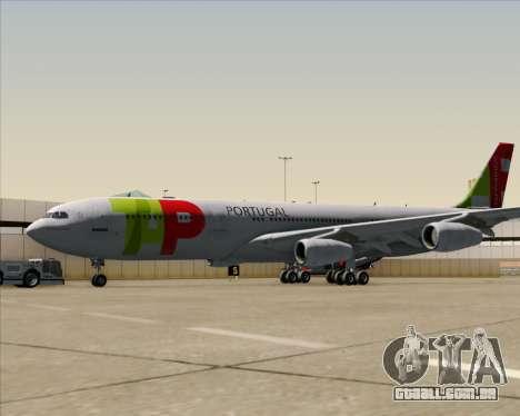 Airbus A340-312 TAP Portugal para GTA San Andreas vista traseira