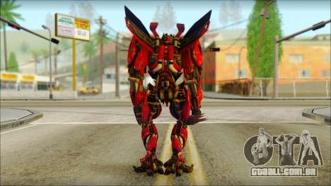 Dino Mirage (transformers Dark of the moon) v2 para GTA San Andreas segunda tela