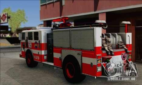 SAFD BRUTE Firetruck para GTA San Andreas esquerda vista