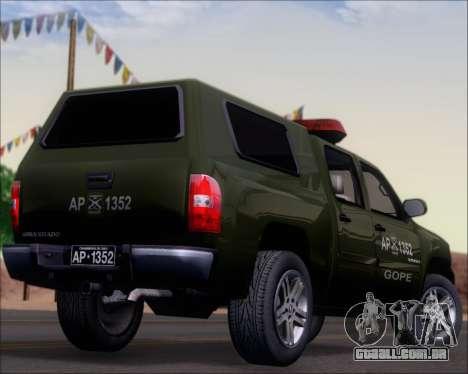 Chevrolet Silverado Gope para GTA San Andreas vista superior