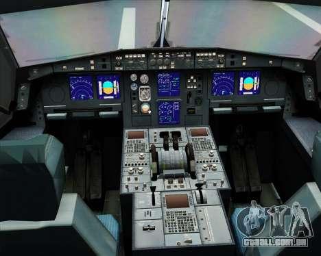 Airbus A330-300 Northwest Airlines para GTA San Andreas interior