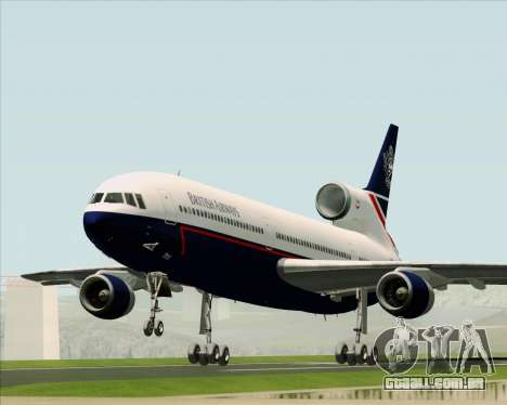 Lockheed L-1011 TriStar British Airways para GTA San Andreas vista traseira