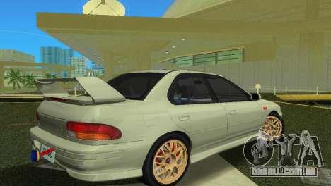 Subaru Impreza WRX STI GC8 Sedan Type 2 para GTA Vice City vista traseira esquerda