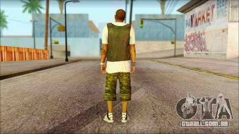 New Grove Street Family Skin v5 para GTA San Andreas segunda tela