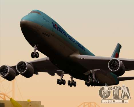 Boeing 747-8 Cargo Korean Air Cargo para as rodas de GTA San Andreas