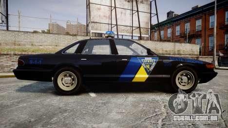 Vapid Police Cruiser LSPD Generation [ELS] para GTA 4 esquerda vista