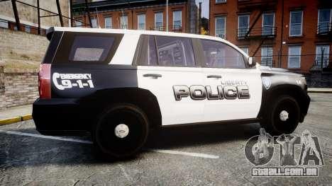 Chevrolet Tahoe 2015 Liberty Police [ELS] para GTA 4 esquerda vista