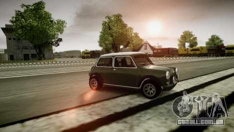 Mini Cooper RWD para GTA 4 traseira esquerda vista