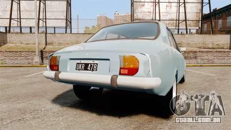 Peugeot 504 para GTA 4 traseira esquerda vista